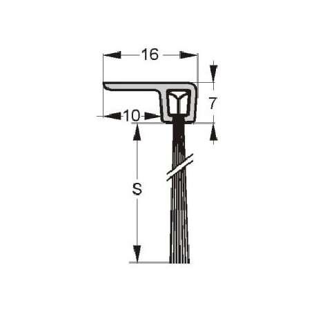 Uszczelnienie szczotkowe profil F3-34 1000 mm