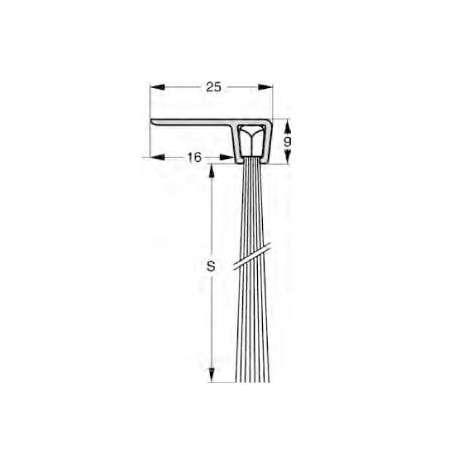 Uszczelnienie szczotkowe profil F5-45 1000 mm