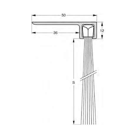 Uszczelnienie szczotkowe profil F8-80 1000 mm