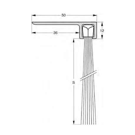 Uszczelnienie szczotkowe profil F8-150 1000 mm