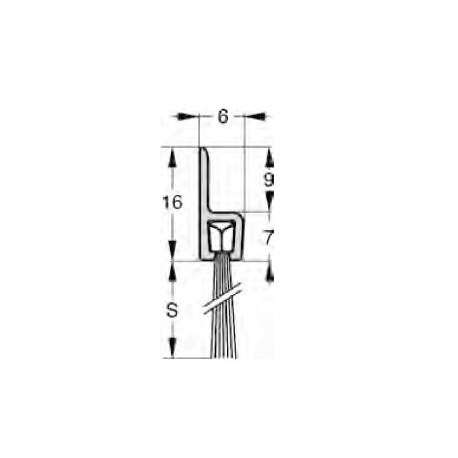 Uszczelnienie szczotkowe profil H3-24 1000 mm